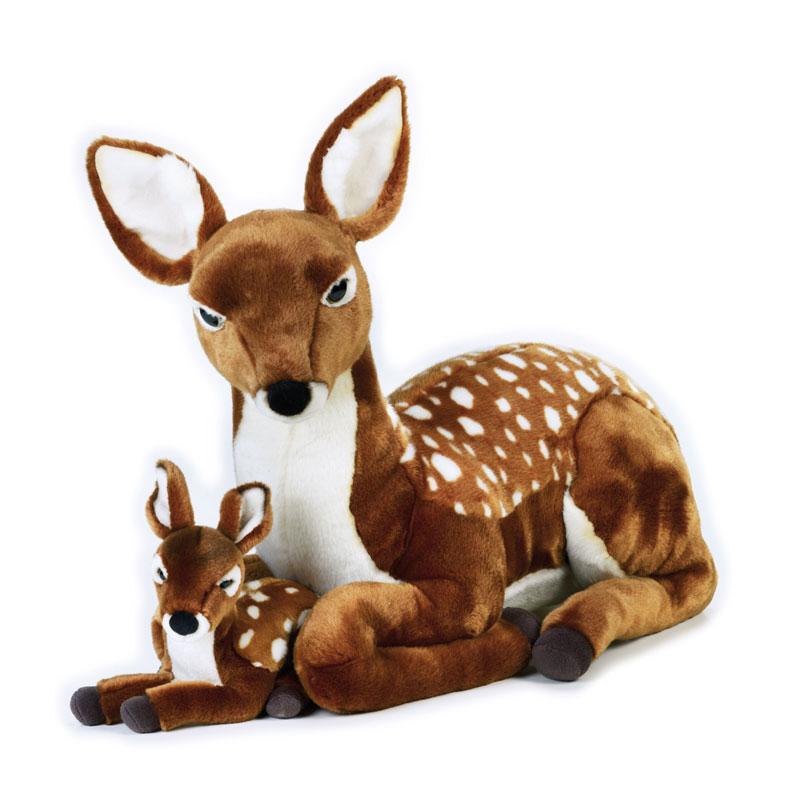 Lelly Peluche Online Store | Peluche Cerbiatto Gigante Con Baby