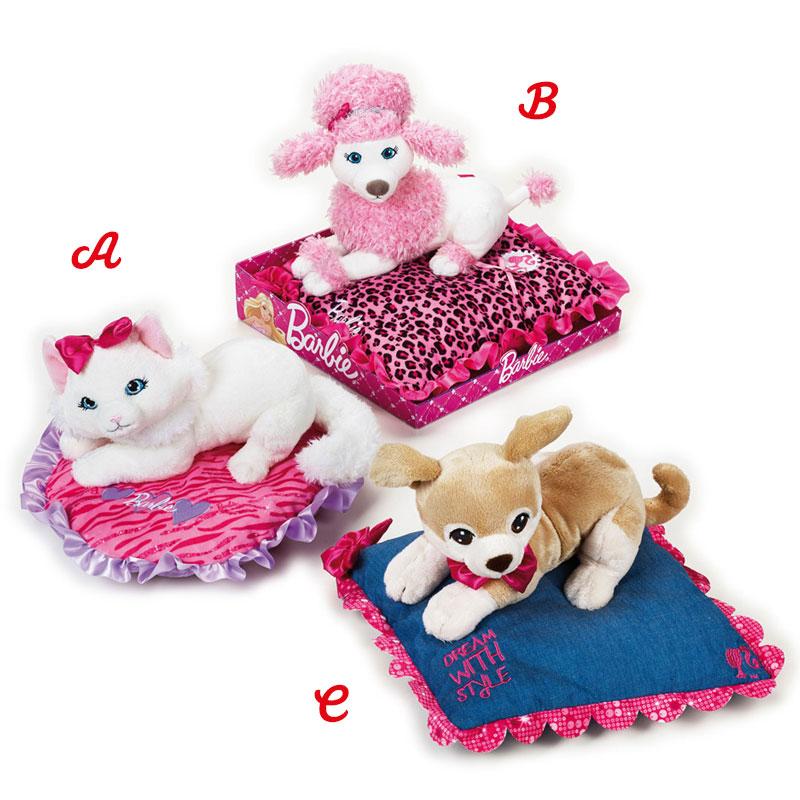 Lelly Peluche Vendita Online peluche Venturelli |peluche barbie pets sul cuscino