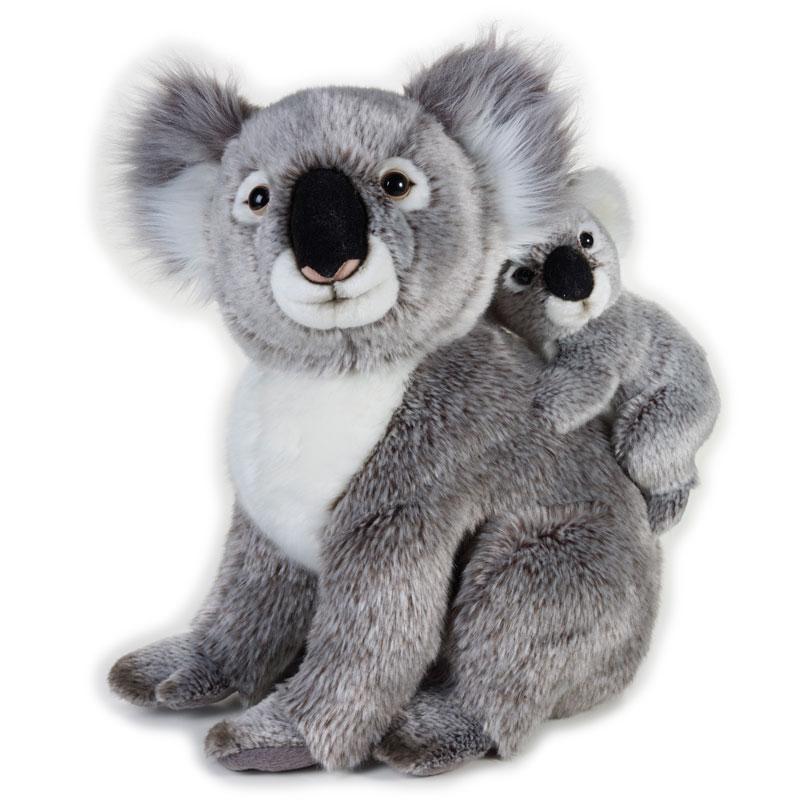 Lelly Peluche Vendita Online peluche Venturelli | Peluche Koala con baby National Geographic