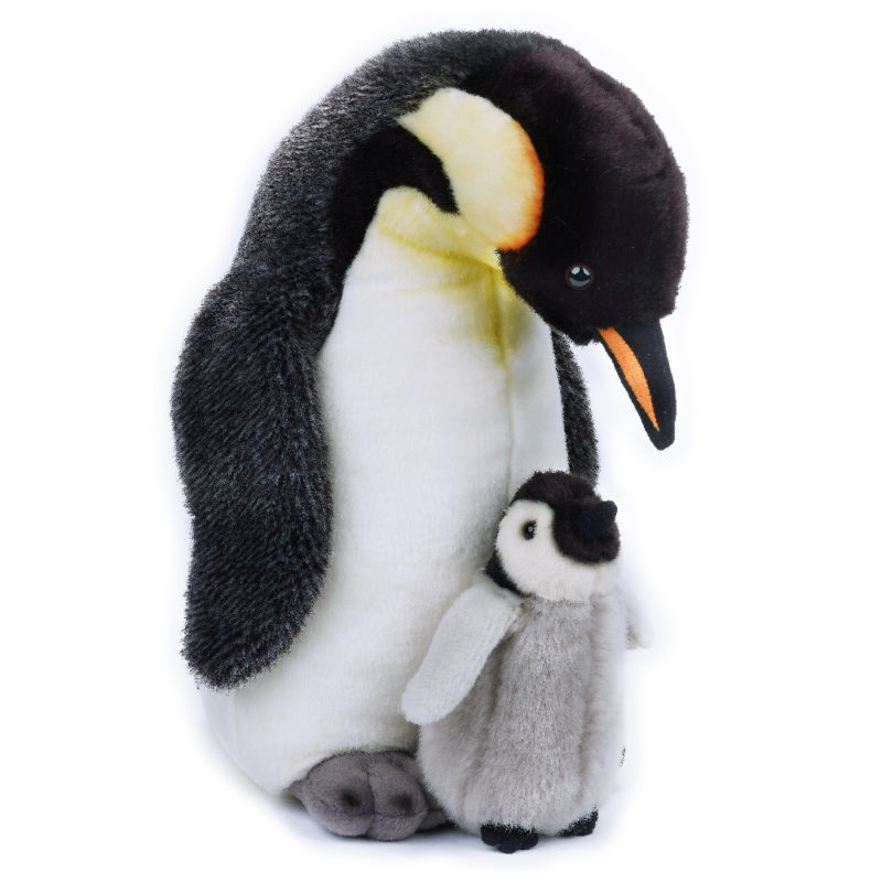Lelly Peluche Online Store | peluche Pinguino Reale con baby National Geographic