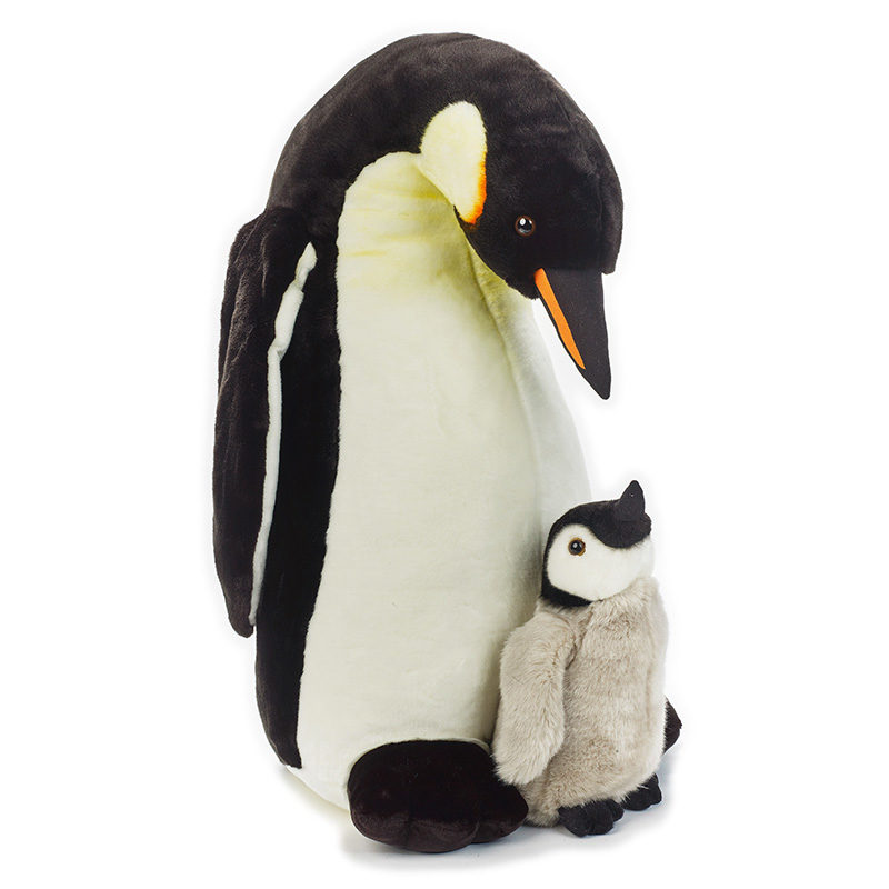 Lelly Peluche Online Store |peluche Pinguino Reale con baby gigante National Geographic